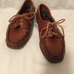 Natural Sport Leather Deck Boat Shoes Loafers